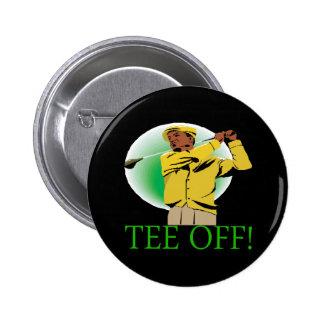 Tee Off 2 Inch Round Button
