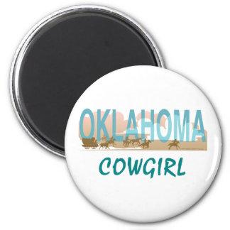 TEE Oklahoma Cowgirl Magnet