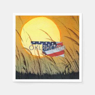 TEE Oklahoma Patriot Disposable Napkins