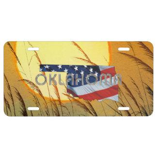 TEE Oklahoma Patriot License Plate
