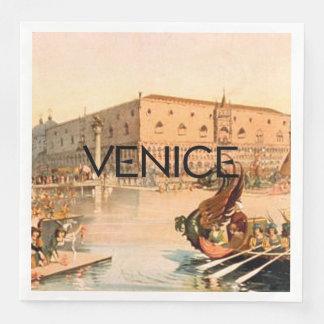 TEE On To Venice Paper Dinner Napkin