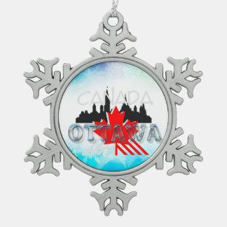 TEE Ottawa Pewter Snowflake Ornament