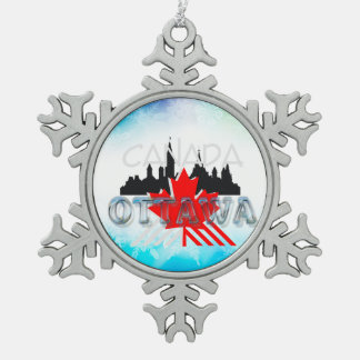 TEE Ottawa Snowflake Pewter Christmas Ornament