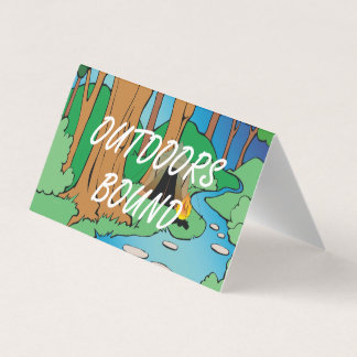 TEE Outdoors Bound Business Card