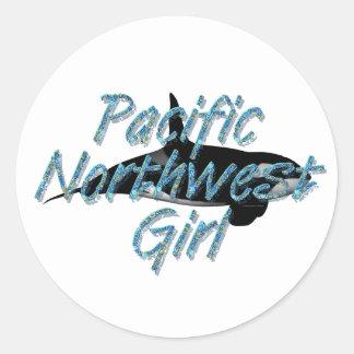 TEE Pacific Northwest Woman Classic Round Sticker