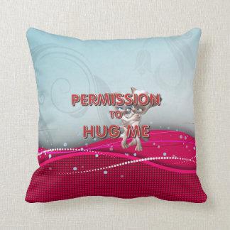 TEE Permission to Hug Throw Pillow
