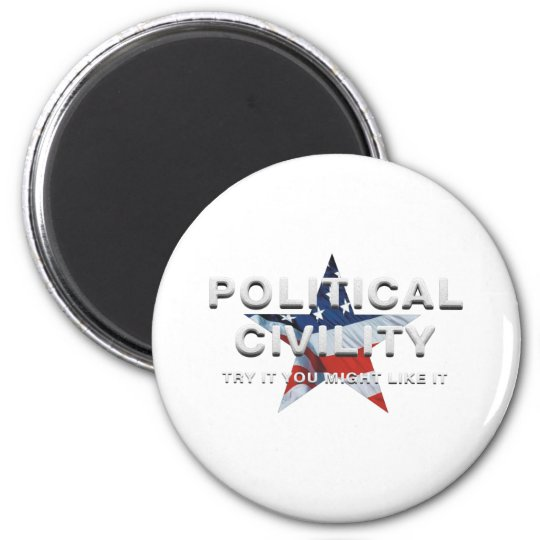 TEE Political Civility 2 Inch Round Magnet