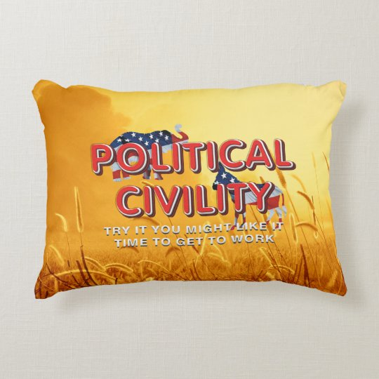 TEE Political Civility Accent Pillow
