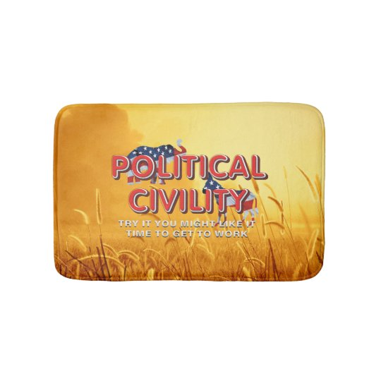 TEE Political Civility Bath Mat