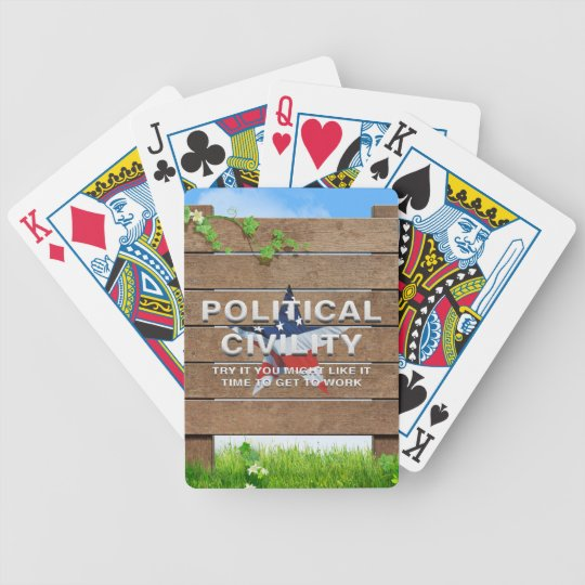 TEE Political Civility Bicycle Playing Cards