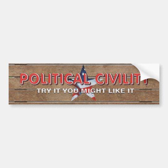TEE Political Civility Bumper Sticker