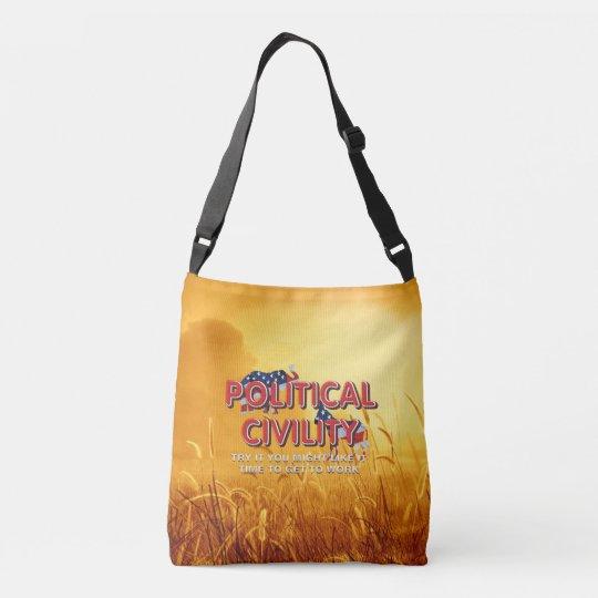 TEE Political Civility Crossbody Bag