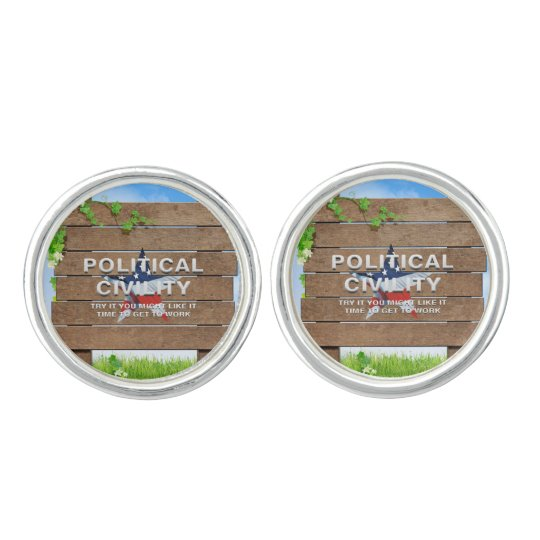 TEE Political Civility Cufflinks