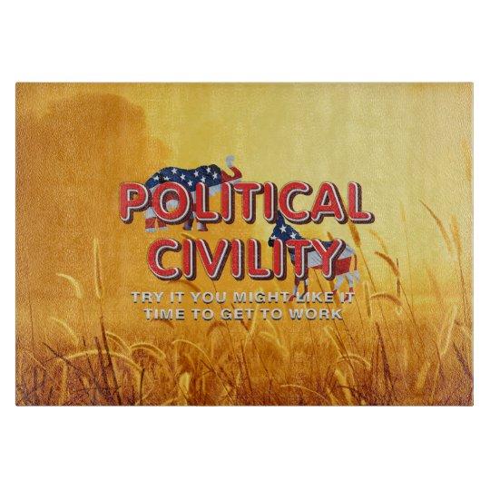 TEE Political Civility Cutting Board