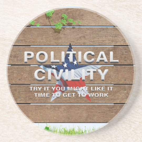 TEE Political Civility Drink Coaster