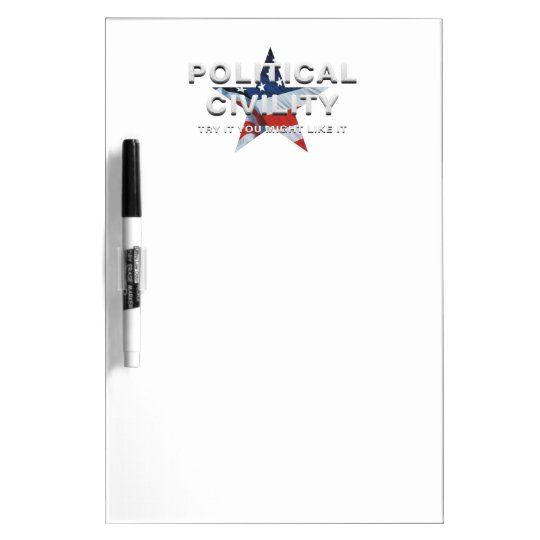 TEE Political Civility Dry Erase Whiteboards