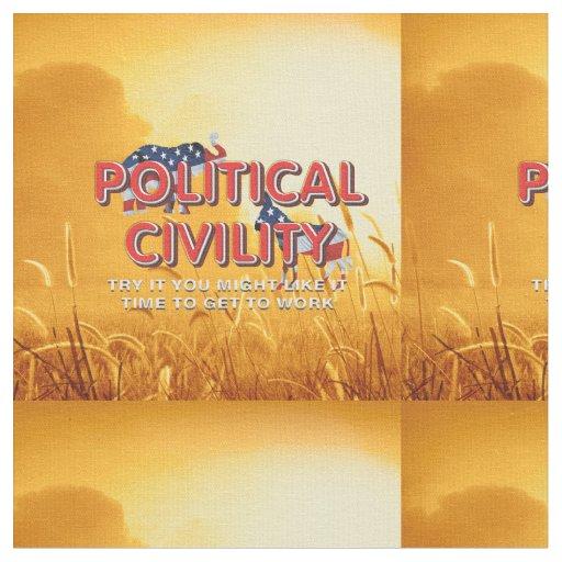 TEE Political Civility Fabric