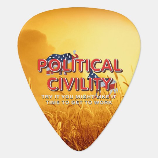 TEE Political Civility Guitar Pick