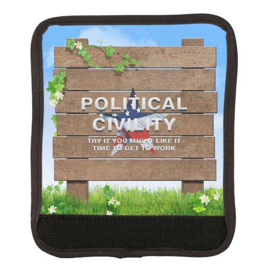 TEE Political Civility Luggage Handle Wrap