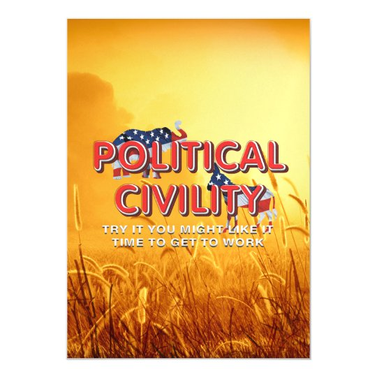 TEE Political Civility Magnetic Card