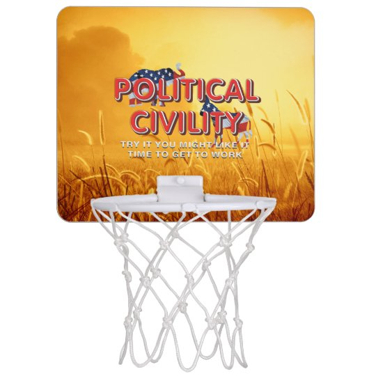 TEE Political Civility Mini Basketball Hoop