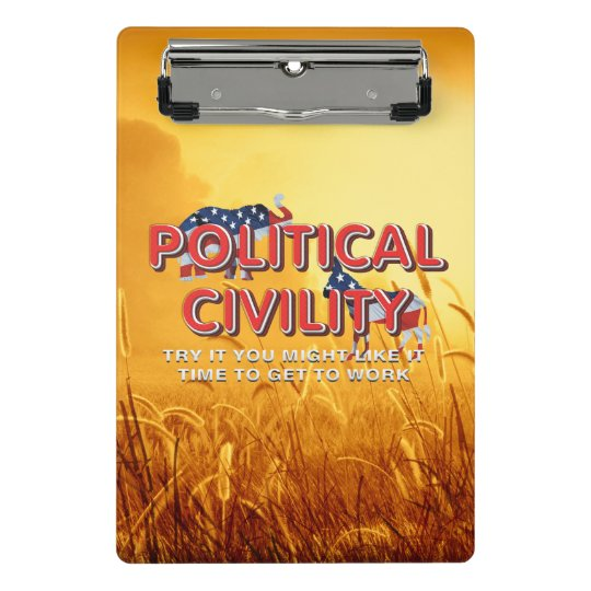 TEE Political Civility Mini Clipboard