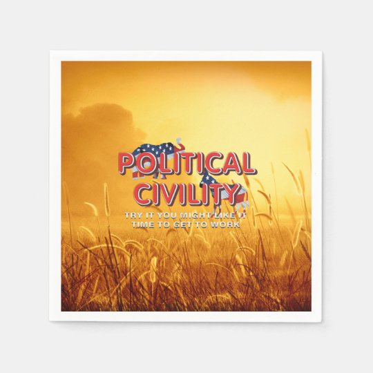 TEE Political Civility Paper Napkins