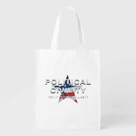 TEE Political Civility Reusable Grocery Bag
