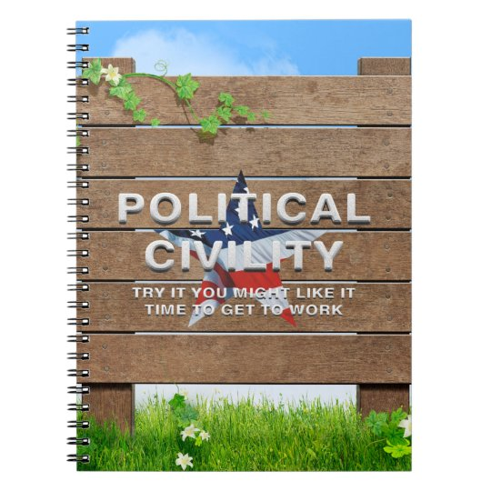 TEE Political Civility Spiral Note Books