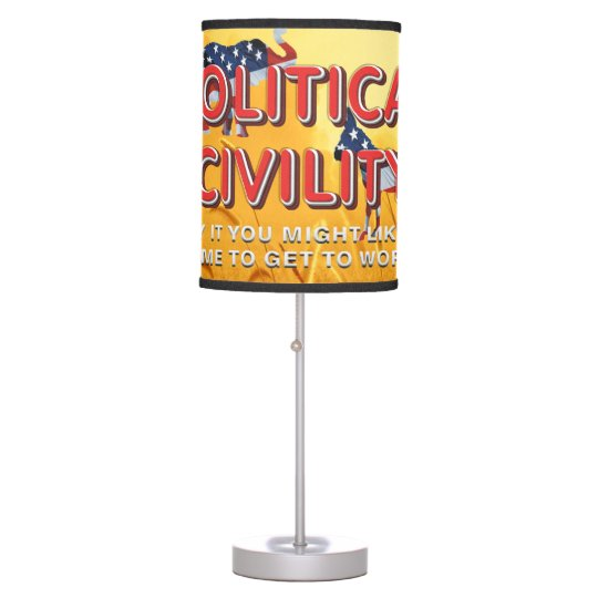 TEE Political Civility Table Lamp