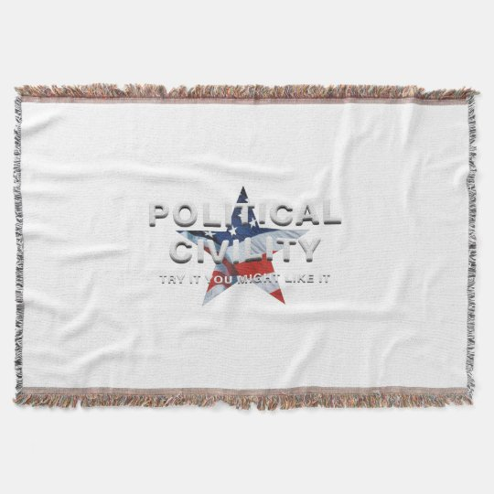 TEE Political Civility Throw Blanket