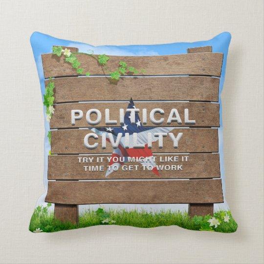 TEE Political Civility Throw Pillow
