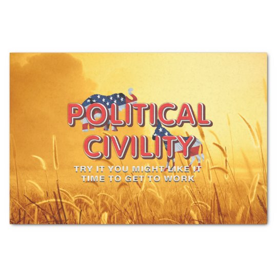 TEE Political Civility Tissue Paper
