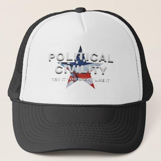TEE Political Civility Trucker Hat