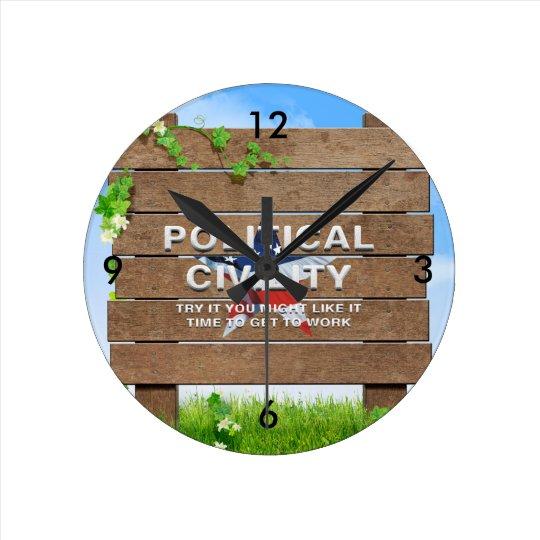 TEE Political Civility Wall Clock