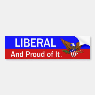 TEE Proud Liberal Bumper Sticker