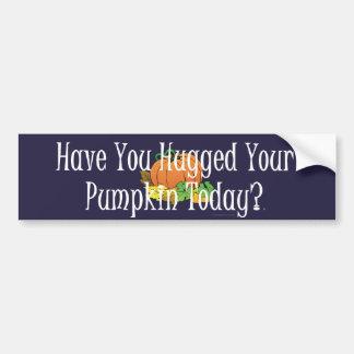 TEE Pumpkin Hug Bumper Sticker