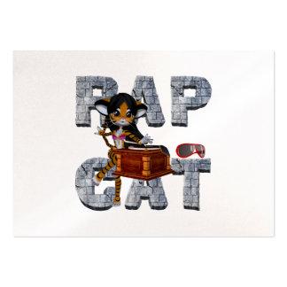 TEE Rap Cat Large Business Card