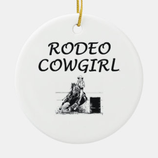 TEE Rodeo Cowgirl Ceramic Ornament