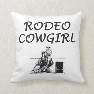 TEE Rodeo Cowgirl Throw Pillow