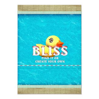 "TEE Rubber Ducky Bliss 5"" X 7"" Invitation Card"