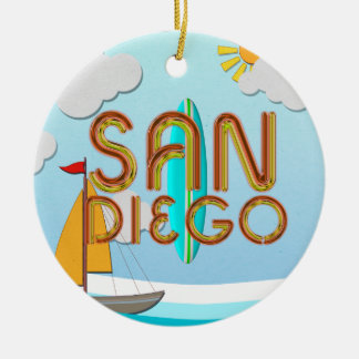 TEE San Diego Ceramic Ornament