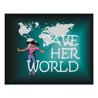 TEE Save Her World Poster