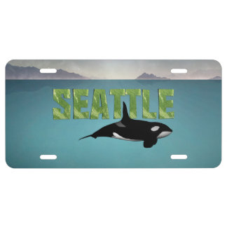 TEE Seattle License Plate