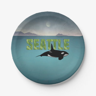 TEE Seattle Paper Plate
