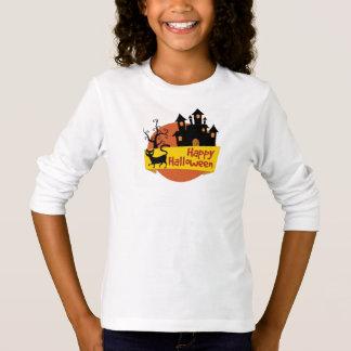 Tee-shirt BASIC A Sleeves Halloween Long line T-Shirt