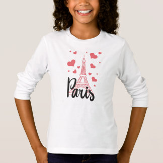 Tee-shirt BASIC A Sleeves Paris Long line T-Shirt