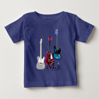 "Tee-shirt blue baby ""Guitars and Music "" Baby T-Shirt"