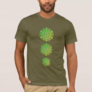 Tee-shirt Chakras Mandala Psychedelic Green T-Shirt