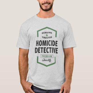 Tee - shirt de logo de détective de homicide t-shirt